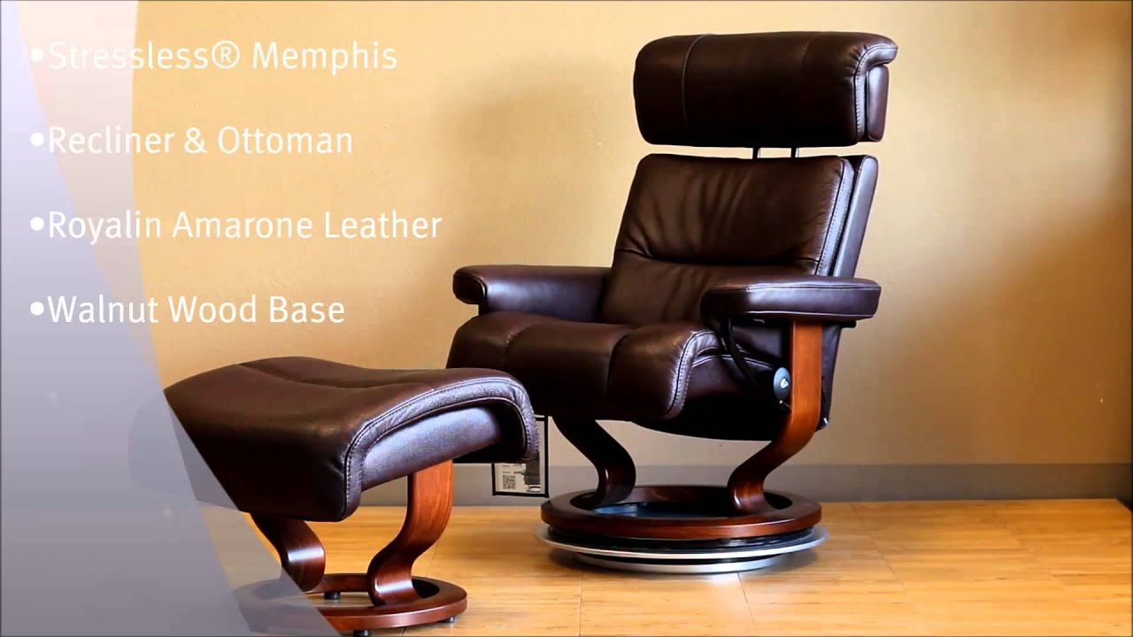 Stressless Memphis Recliner Chair And Ottoman Royalin