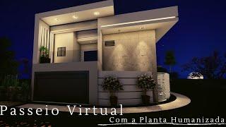 SOBRADO EM TERRENO DE ESQUINA | Passeio Virtual Com planta Humanizada.