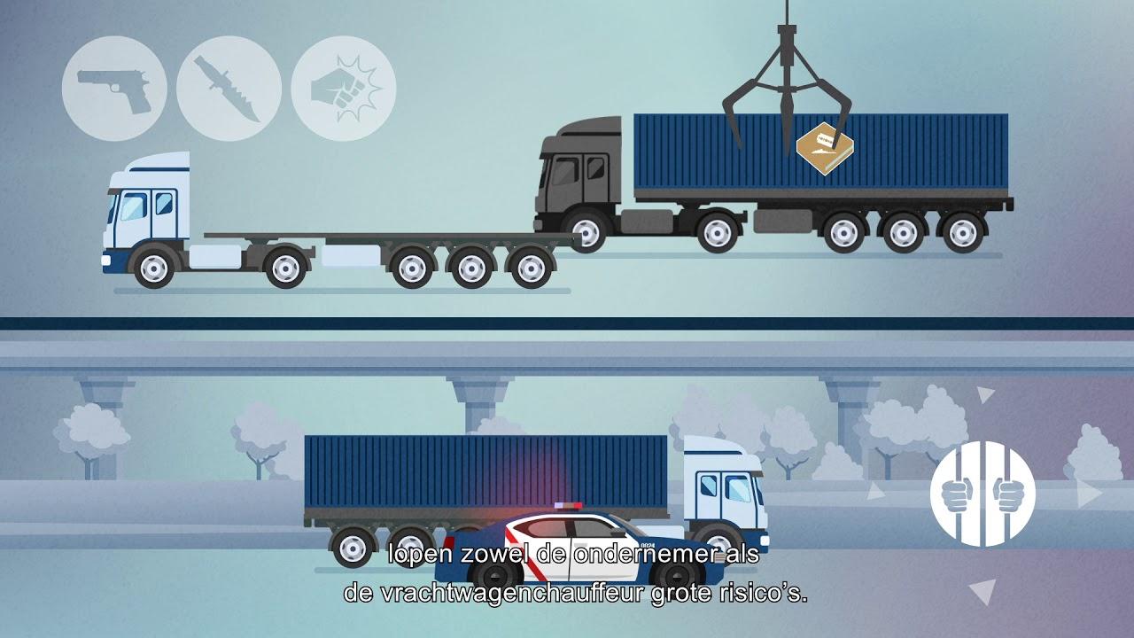 Meeste drugs per vrachtwagen vervoerd. Wat kun je opmerken?