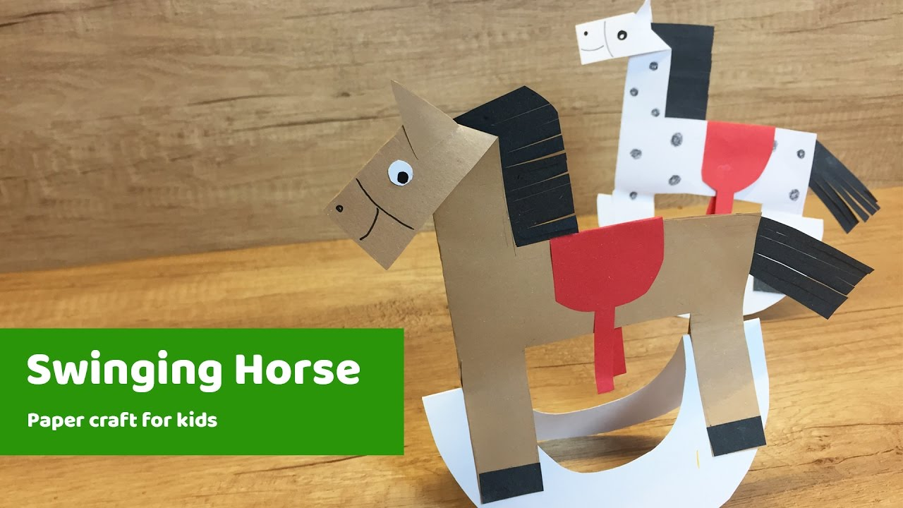 Charming Horse Craft Ideas For Kids Part - 7: Paper Craft For Kids - HORSE L Easy To Make For Everyone