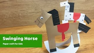 Paper Craft for kids - HORSE l Easy to make for everyone