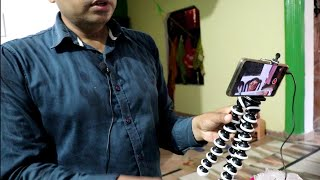Gorilla mini Tripod stand Unboxing, review, use, Price, smartphone holder, smart Action camera Holde
