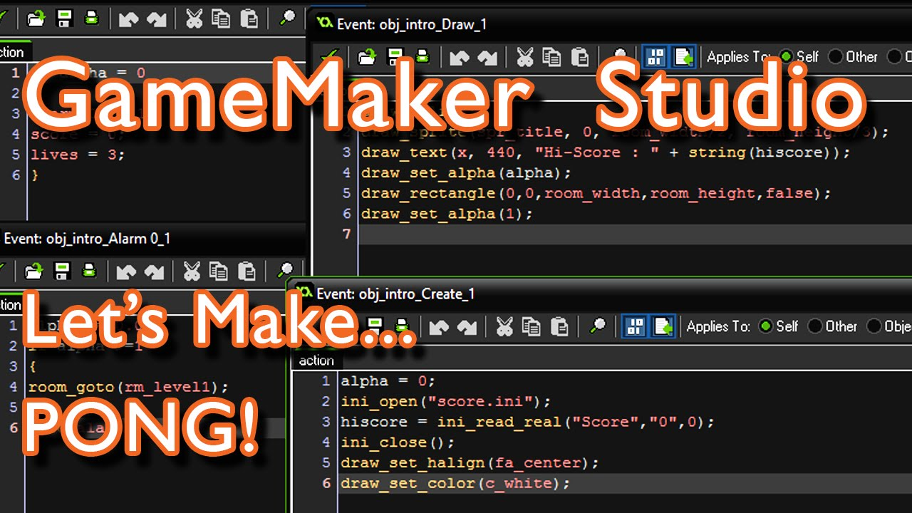 GameMaker - Let's make PONG! What could possibly go wrong? [basic tutorial  & demonstration]