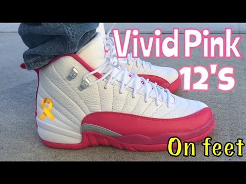 air jordan 12 valentines day on feet