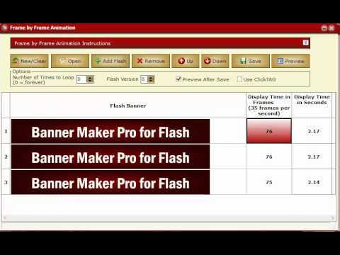 Banner Maker Pro For Flash Frame By Frame Animation Tutorial Youtube