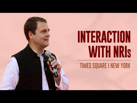 Rahul Gandhi's speech to NRIs at Times Square | New York