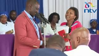 Drama in church as two women interrupt DP Ruto's speech, beg for help