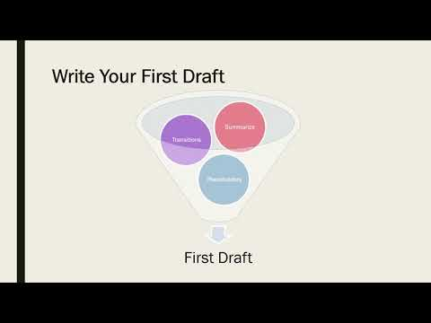 Research Paper – Write The First Draft