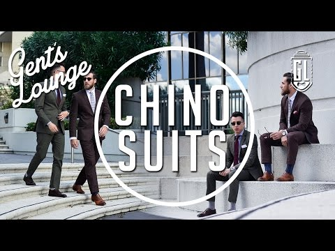 Chino Suits: How we wear them (Ft. Combatant Gentlemen) + Lunch at Beer Belly LA || Gent's Lounge