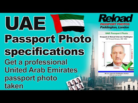 United Arab Emirates (UAE) Passport Photo and Visa Photos snapped in London