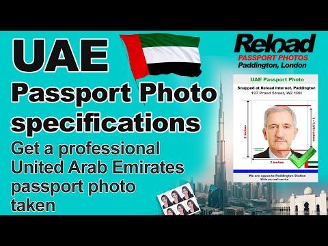 United Arab Emirates (UAE) Passport Photo And Visa Photos Snapped In London