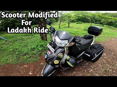 Honda Activa Modified For Leh Ladakh Ride 2021