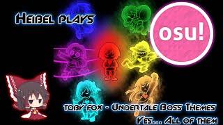 Osu! - Toby Fox - Undertale Boss Themes [Marathon]