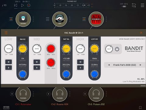 FAC Bandit AUv3 Multi Effect Processor - Demo & Tutorial for the iPad