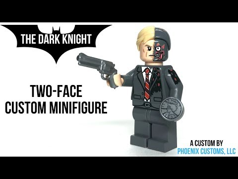 LEGO TWO-FACE (The Dark Knight) Custom Minifigure from Phoenix Customs (Review)