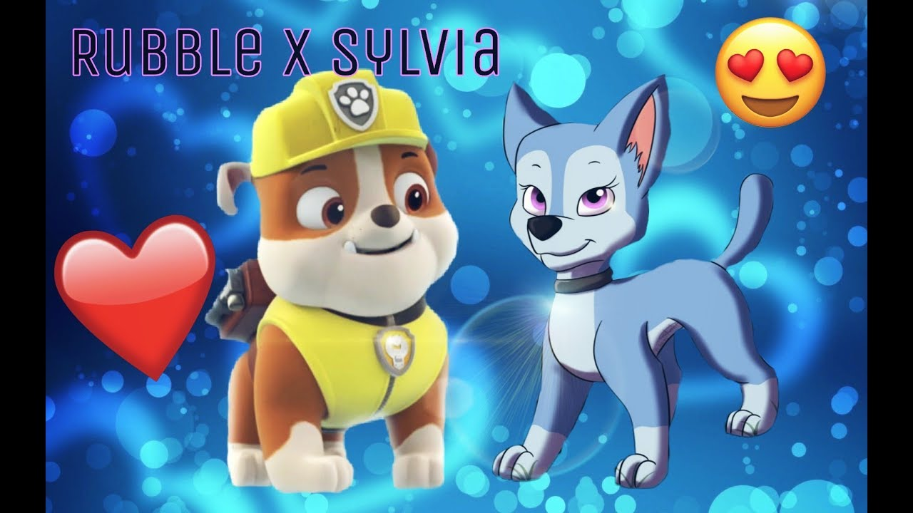 Крепыш и Сильвия  для канала sky paw patrol♡rubble x
