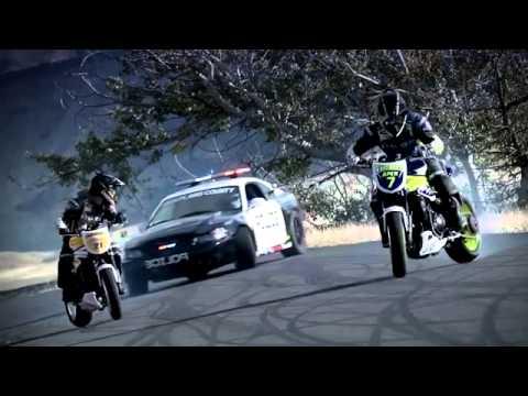 Drift moto vs policia