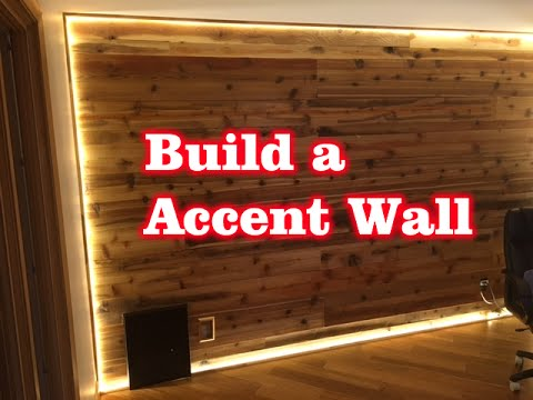Build a Cedar Wood Accent Wall