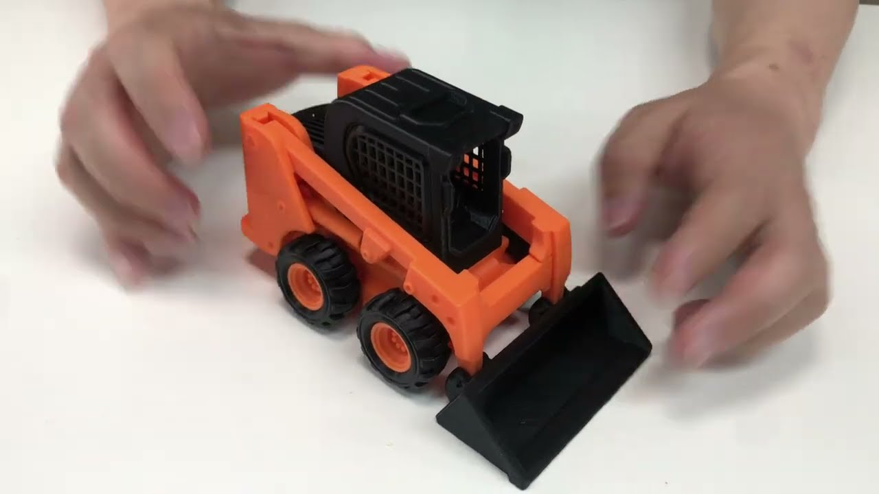 Skid loader (Print-in-place Articulated) print on CR10