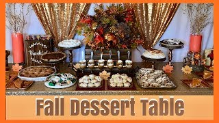 Thanksgiving Holiday Dessert Table | Fall Dessert Table