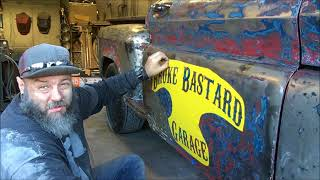 How to lettering on your doors the easy way, on your Rat rod or Hotrod