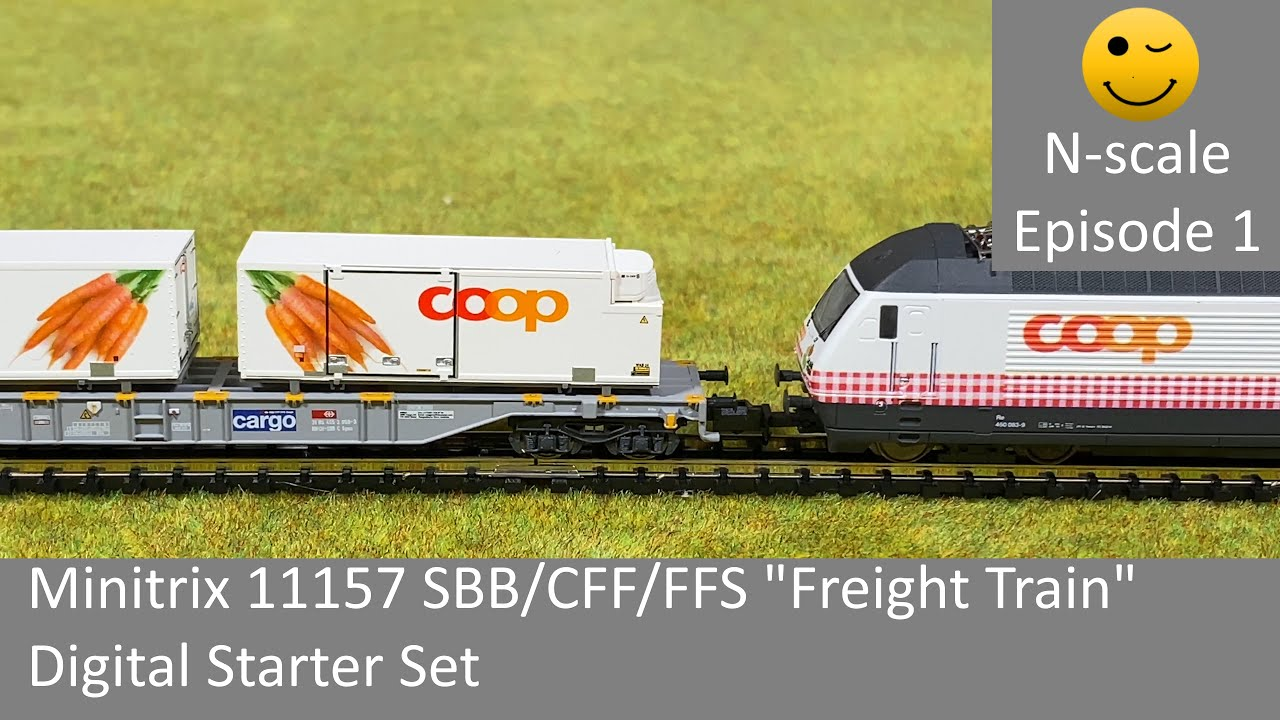 Trix Minitrix 15610 Goods Wagon Set The SBB 4-teilig # New Original Packaging #