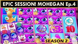 EPIC SESSION! SUPER FREE GAMES TWICE! MISS KITTY TALL FORTUNES SLOT MACHINE
