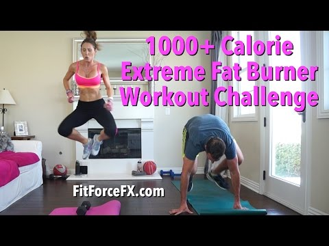 1000 + Calorie Extreme Fat Burner Workout Challenge – Subscriber Thank You! #HIIT #Abs #1000calorie