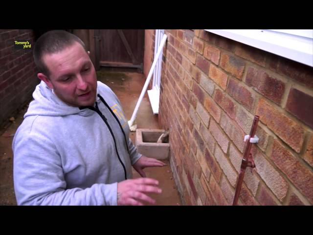 Tommy's Yard, How to fit an outside tap