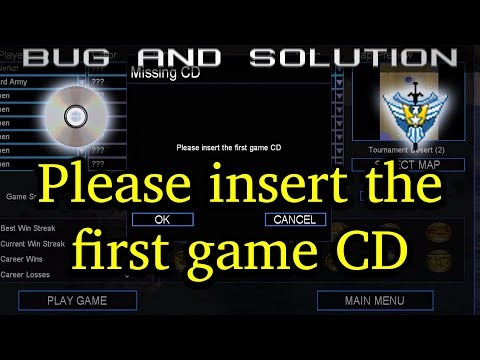 Bug: Insert The First Game CD