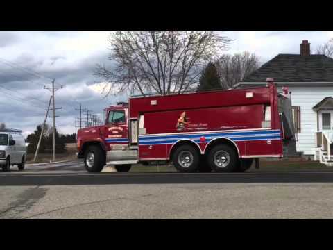 Tenders Responding To Barn Fire In Jackson 3-17-16