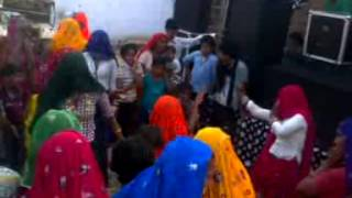 local dance by ladies and small girl on ramdhan gurjar rasiya in bayana