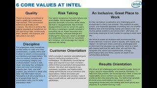 6 Core Values at Intel via Brian Krzanich