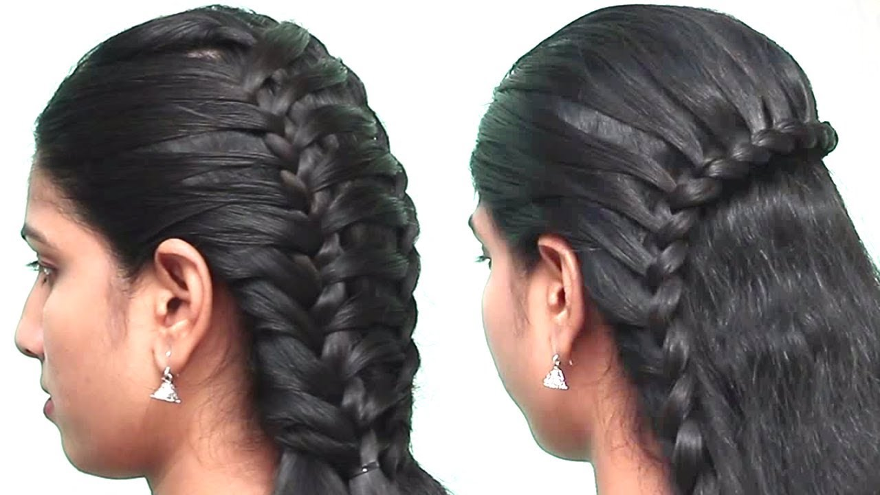 2 Different Hairstyles For Ladies School College Hairstyles