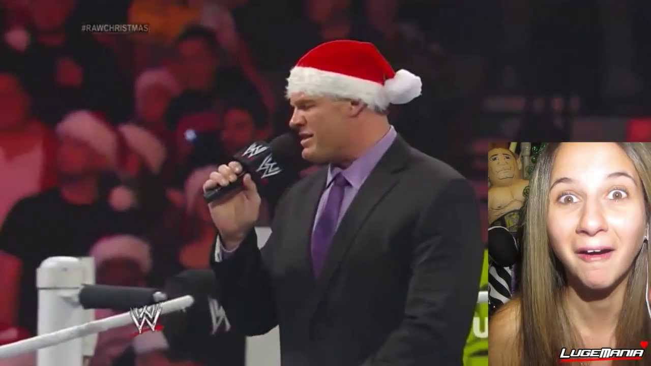 Raw Christmas Kane hands out Candy Canes Live Commentary - YouTube
