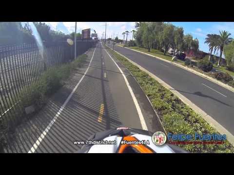 Felipe Fuentes Celebrates Bike to Work Day in LA