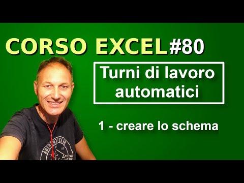 80 Corso Excel: Gestire I Turni Di Lavoro Con Excel | Daniele Castelletti | Associazione Maggiolina