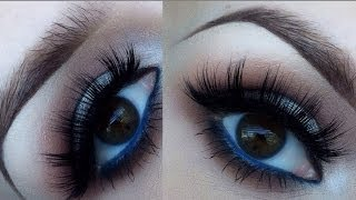 Spring makeup with a pop of blue Thumbnail