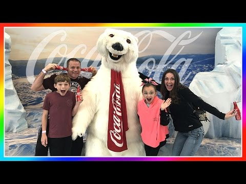 WE MEET THE COCA COLA POLAR BEAR! | THE WORLD OF COCA COLA | We Are The Davises