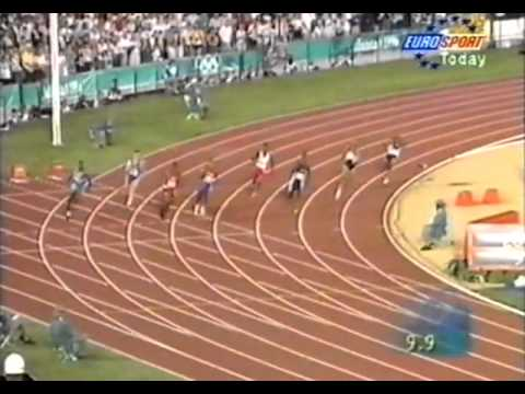 Michael Johnson 200 meters WR 19.32  Atlanta 96 Olympics - High Quality