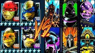 Черепашки-Ниндзя из ФИЛЬМА - ПРОТИВ ВСЕХ БОССОВ (мобильная игра) TMNT Legends UPDATE X