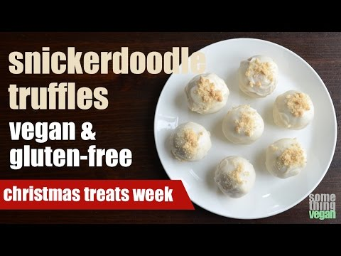 snickerdoodle truffles (vegan & gluten-free) Something Vegan Christmas Treats Week