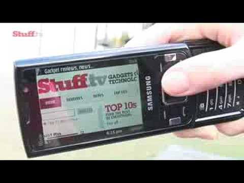 Samsung I8510 8MP cameraphone video review from Stuff.tv
