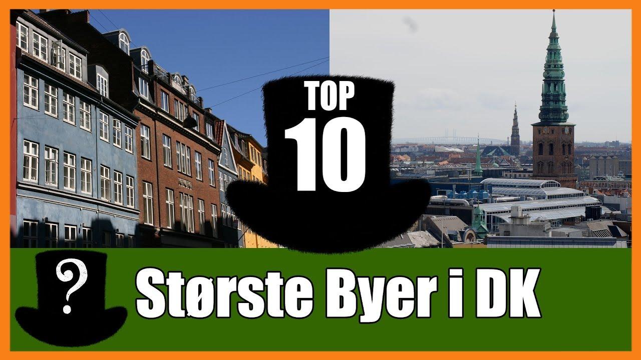 danmarks største byer top 10