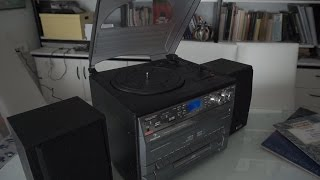 Auna Stereo music system unboxing and testing - Auna TC-386