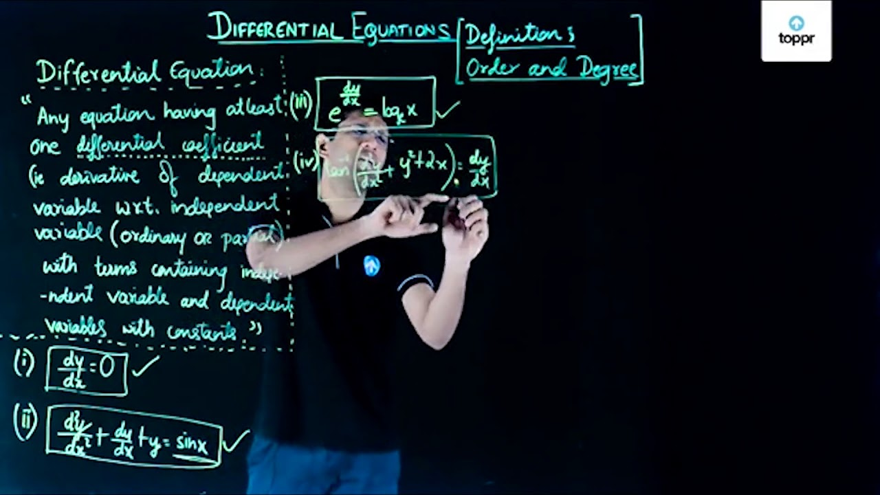 Order and Degree of Differential Equation: Concepts, Videos