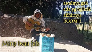 This father's busker voices Iwan fals | oisejati | arjuna temple | Social experiment