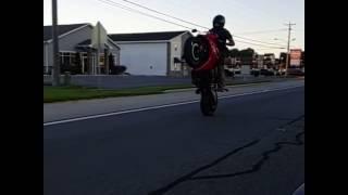 Honda cbr650f wheelie