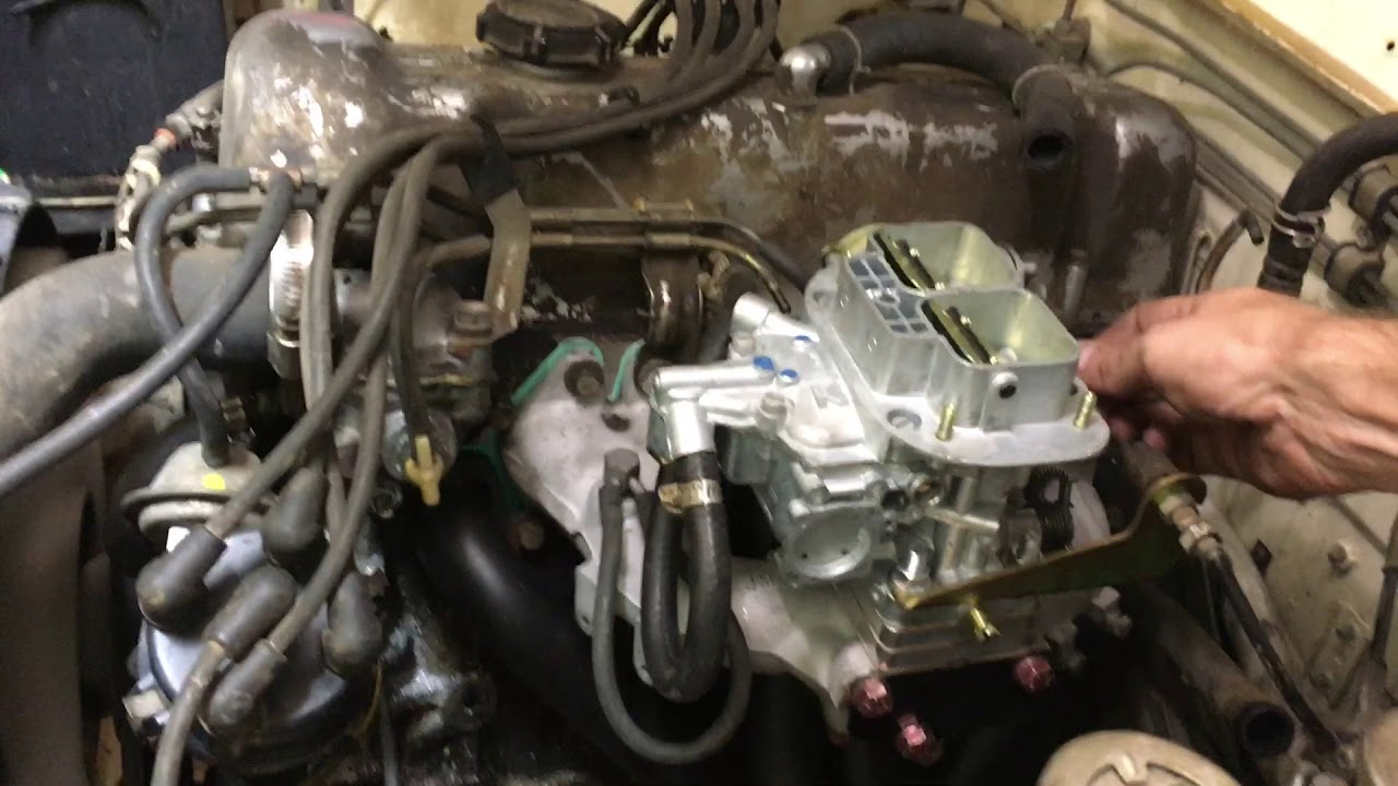 Weber and Header for my 77' Datsun - Gordon French