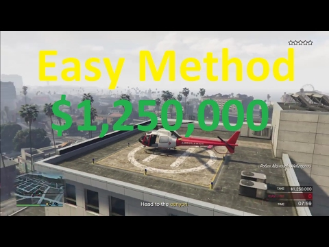 The Pacific Standard Job Easy Helicopter Method (GTA 5) (Working 6/16/17) After update